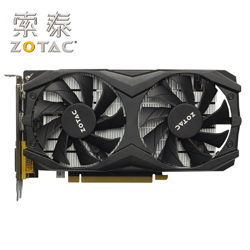 ZOTAC Video Card GTX1050Ti-4GD5 Thunder TSI PA GPU Graphics Cards Map for GeForce nVIDIA GTX1050 4GD5 128Bit Video Cards HDMI image