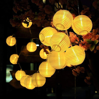 HUSUYUHU Lantern Ball Solar LED String Lights 20 LEDS Multicolor Fairy Lamp Globe Christmas Garden Party Decor Holiday Lighting