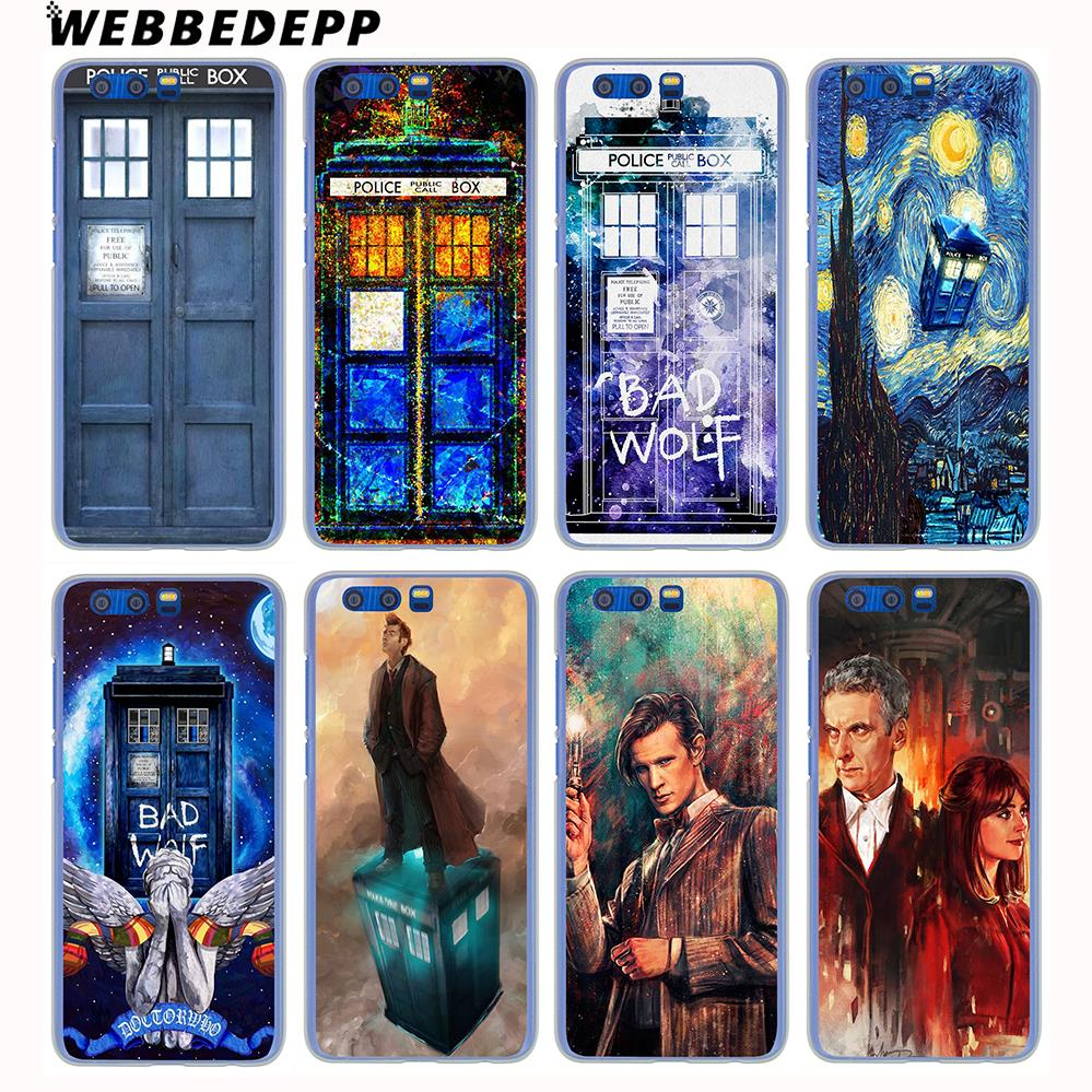WEBBEDEPP Tardis Box Doctor Who Hard Case for Huawei Honor 9 8 Lite 7X 6A 6C Y3 Y5 Y6 II Y7 2017