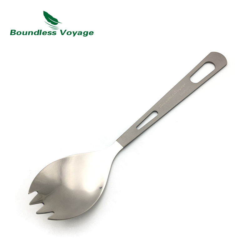 Titanium Spoon Fork Spork Outdoor Camping Tableware Flatware Cutlery