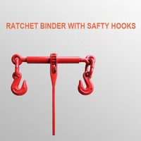 4.18 Tons 10 13mm Ratchet Binder With Safty Hooks 3/8 1/2 inches Lever Tensioner Ratchet Tightener Rigging Accessories