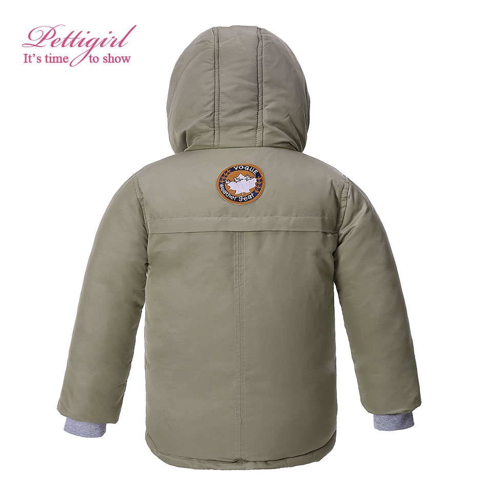 78a98e2a3 Pettigirl Newest Khaki Kids Winter Down Jacket With Fleece Boys ...