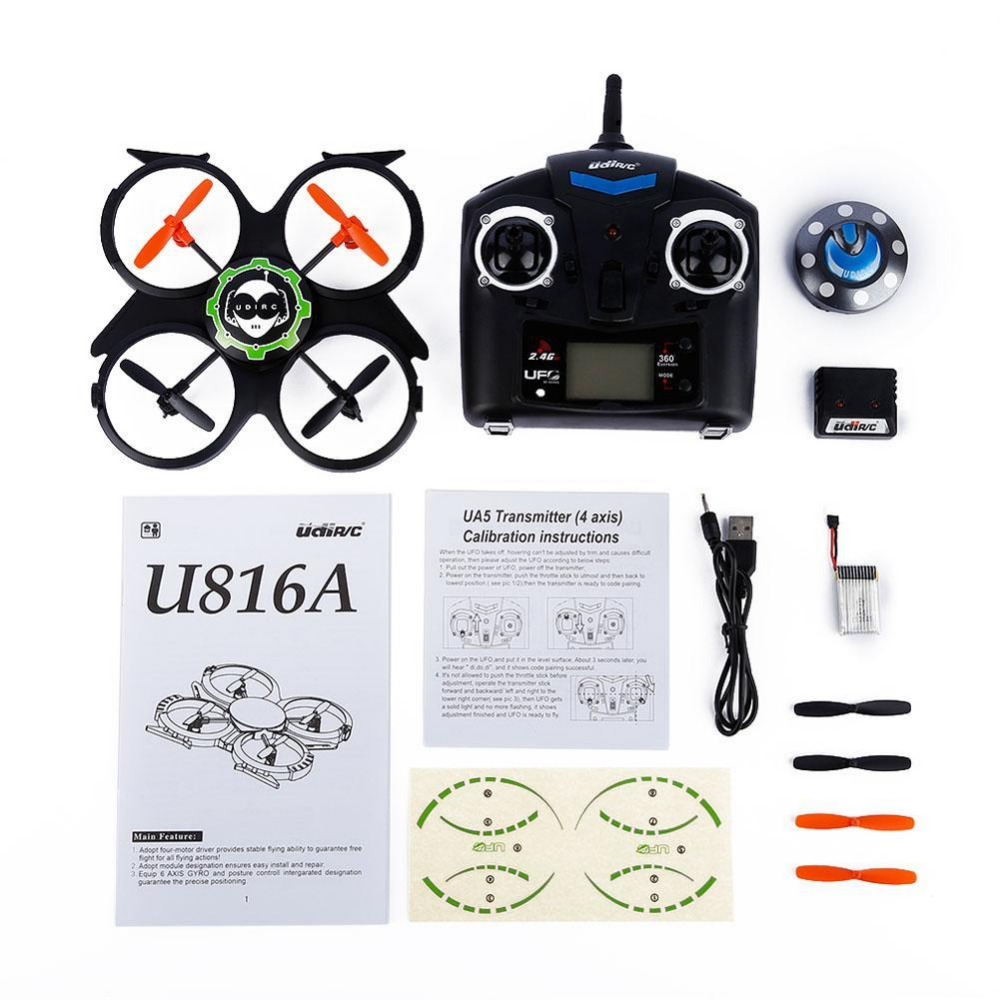 New 2.4GHz 4 Channels RC 6 Axis Gyro UFO Aircraft Quadcopter for UDI U816A RC jin xing da 398 6 axis gyro 2 4ghz 4ch rc quadcopter 3d eversion ufo