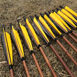 Image 2 - 6/12/24 pcs 32 Handmade Bamboo Arrows For Recurve Longbow Hunting  Archery