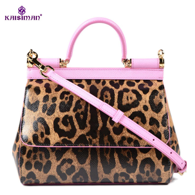Luxury Handbags Women Bags Designer Leopard Genuine Leather Shoulder Bags Handbags High Quality Famous Brand Tote Bag Sac A Main 2018 soft genuine leather bags handbags women famous brands platband large designer handbags high quality brown office tote bag