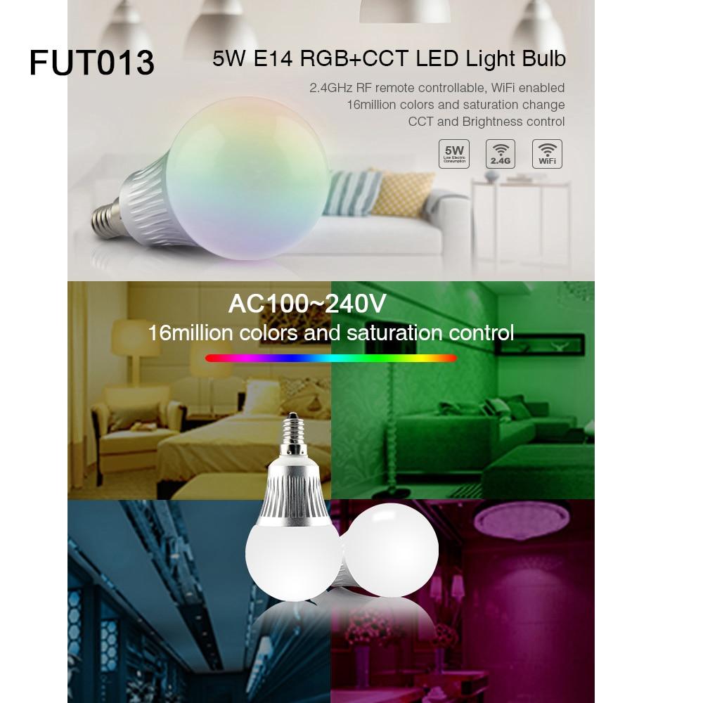Купить с кэшбэком FUT103/FUT104/FUT013/FUT014/FUT015/FUT012/FUT105 4W 5W 6W 8W 9W 12W E14 GU10 MR16 E27 RGB CCT led Light Blub Spotlight