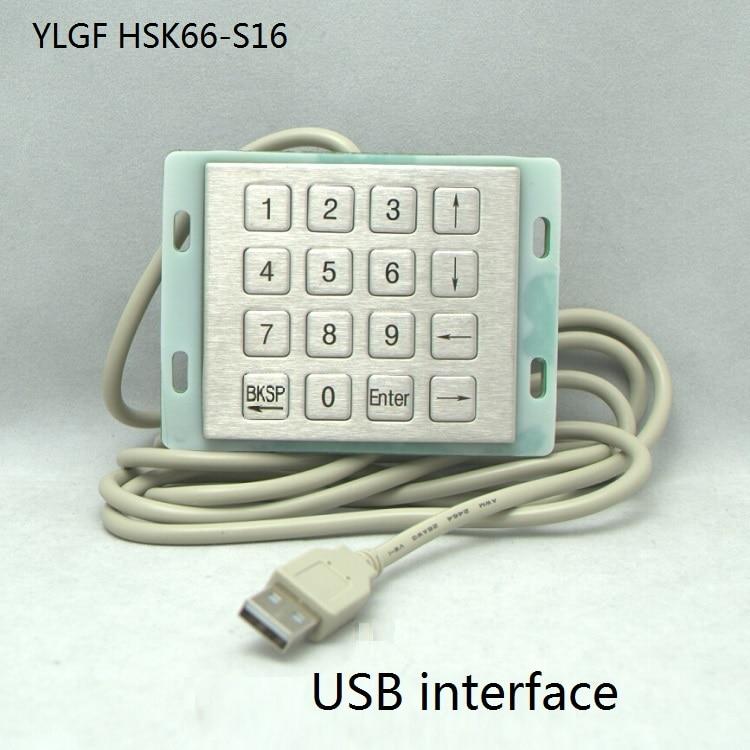 ФОТО Metal Keyboard Ylgf Usb Interface Mini Embedded Industrial Key Waterproof Ip65 Dust Anti Violence Stainless Steel Ring
