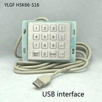 Metal Keyboard Ylgf Usb Interface Mini Embedded Industrial Key Waterproof Ip65 Dust Anti Violence Stainless Steel Ring