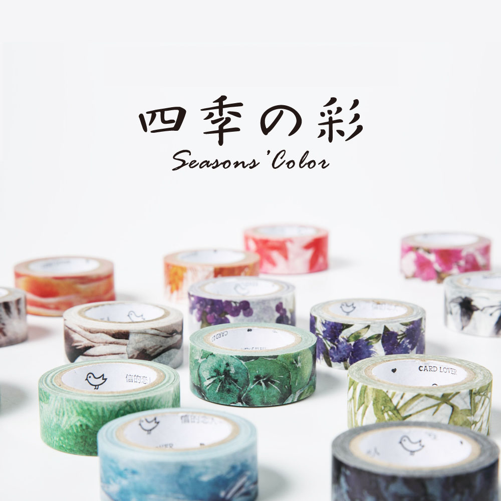 7 Meters Seasons Color Washi Adhesive Tape Masking Tape Decorative Sticker For DIY Decoration Scrapbooking