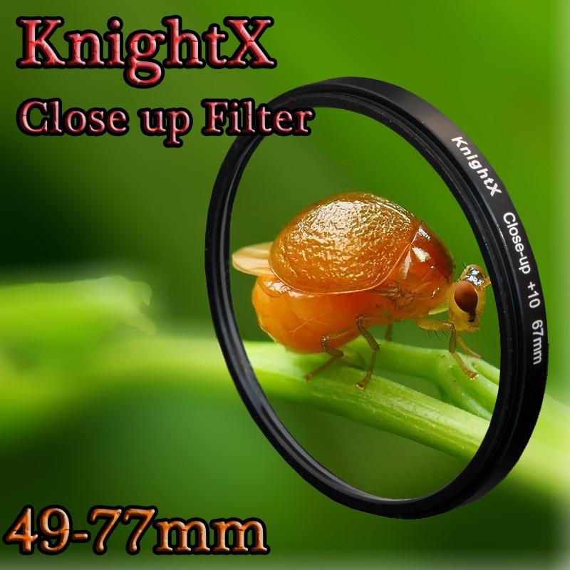 KnightX 49 52 55 58 62 67 72 77mm Gros Plan Macro lentille Filtre pour Nikon d5200 d3300 d3100 Canon 550D 600D 650D EOS DSLR lentilles