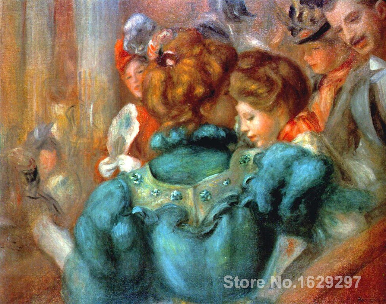 artwork of Pierre Auguste Renoir A Box in the Theater des Varietes handmade art paintings reproduction High Quality