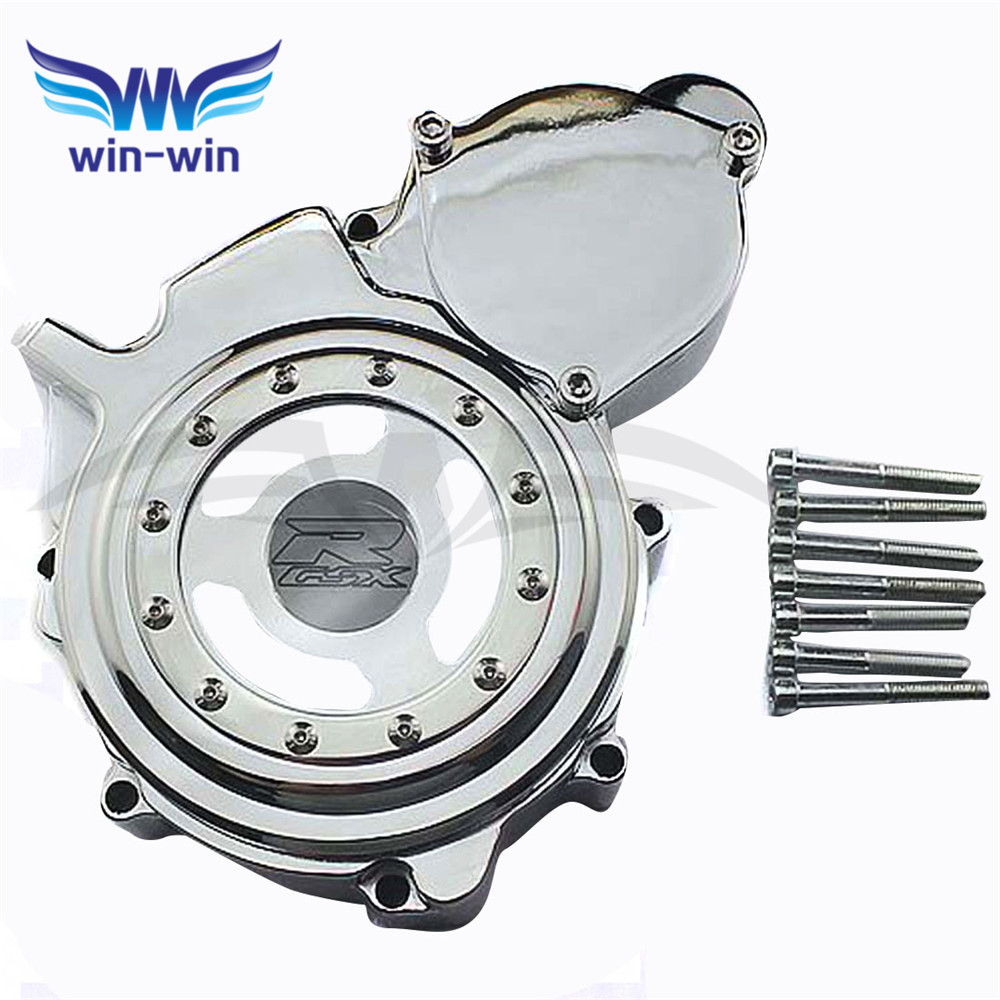 new brand     motorcycle  engine stator cover Chrome  crank case cover For SUZUKI GSXR600 750 K6 K8 2006 2007 2008 2009 2010 for motorcycle suzuki gsxr600 750 2008 2009 engine stator cover black left