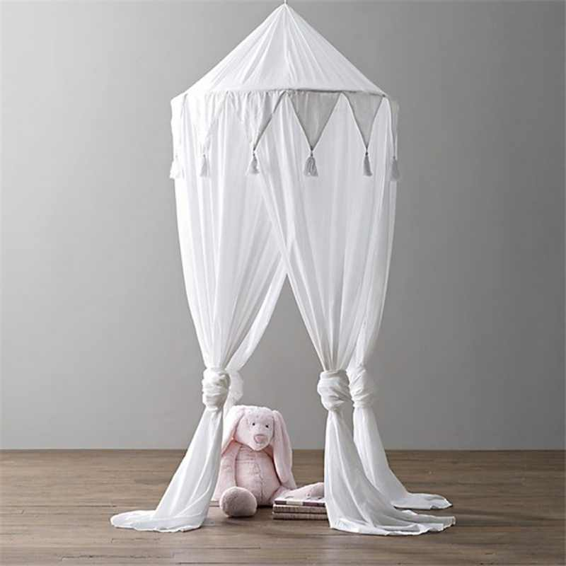 Chiffon Fringed Triangle Flag Laciness Mosquito Net Canopy bed For Children Princese Bed Home decoration Textile For Baby