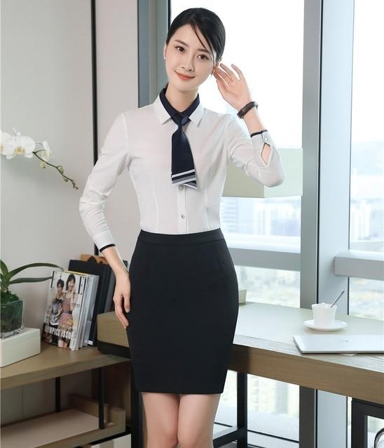 Mujeres de Negocios Trajes con 2 unidades falda y Tops Sets señoras trabajo  Blusas y camisas. Sitúa el cursor encima para ... 73555e552d71