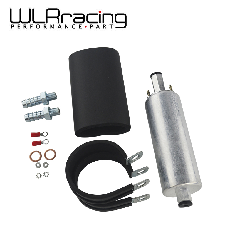 WLR RACING - Universal High Flow & Fuel Pump GSL392 Pressure External Inline 255LPH WLR-FPB005 wlr racing black 20l aluminium fuel surge tank fuel cell with sensor foam inside wlr tk39bk