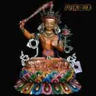 Nepal handicrafts/tantric Buddha manjusri bodhisattva Buddha/pure copper and gold coloured drawing or pattern / 33 cm high - 1