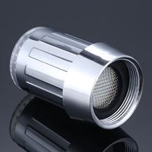 LED Water Faucet Stream Light Kitchen Bathroom Shower Tap Nozzle Head Temperature Sensor Blue