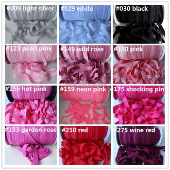 Free DHL/Wholesale Solid fold over elastic 51colors 100yards per color for headbands hair Accessories - DISCOUNT ITEM  15% OFF All Category