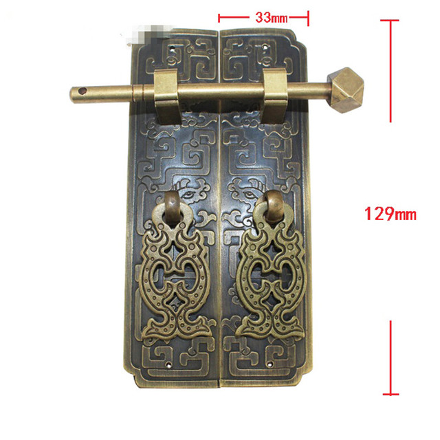 Antique Furniture On The Door Handle Brass Handle Rings Cabinet Door  Decorative Accessories Carved Designs