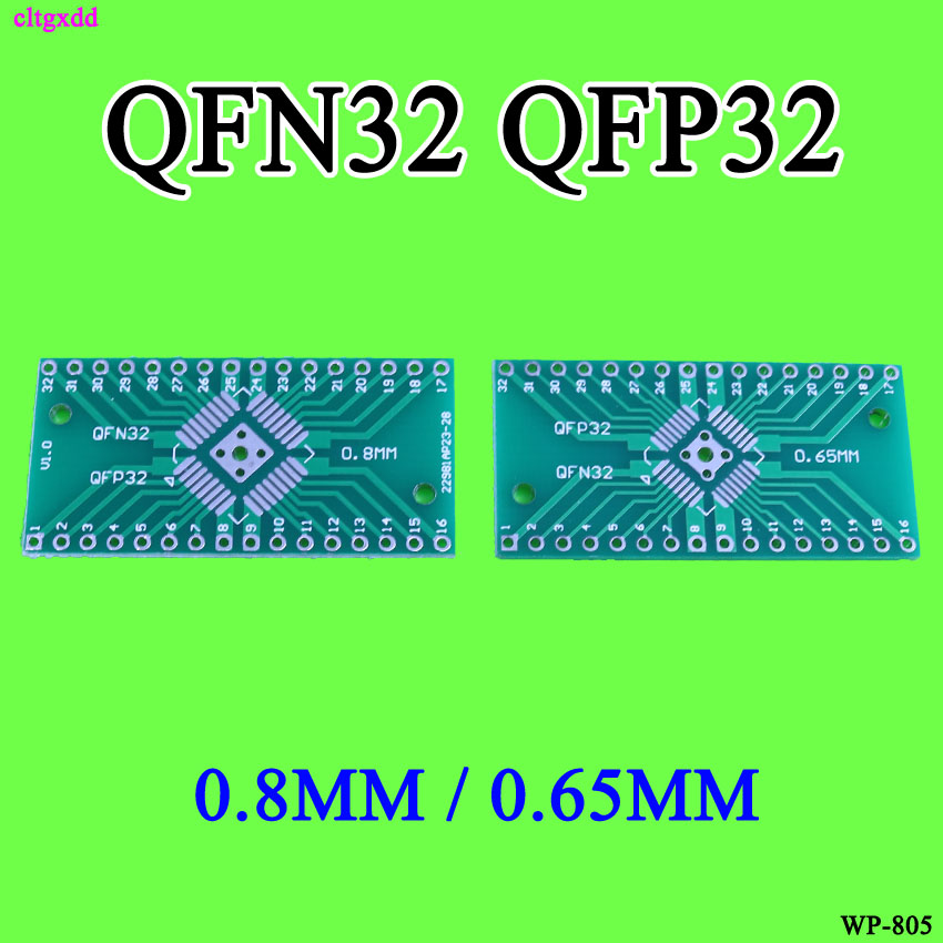Cltgxdd 10PCS FOR QFN32 QFP32 Converter DIP Adapter PCB 0.8/0.65mm Pitch Universal Board