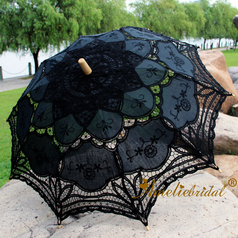 Lace Umbrella Parasol Party-Decoration Wedding-Gifts Westerns Victorian Era Vintage And title=