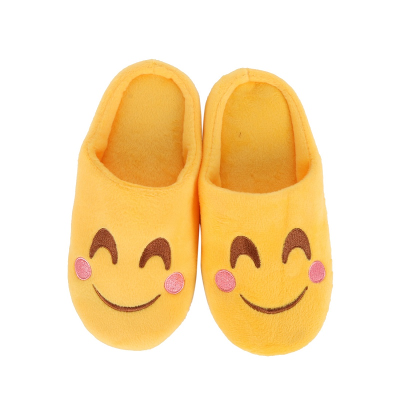 2017 New Lovely Children Winter Warm Kids Fashion Expression Package Cotton Face Section Cool Style Flip Flop Slippers