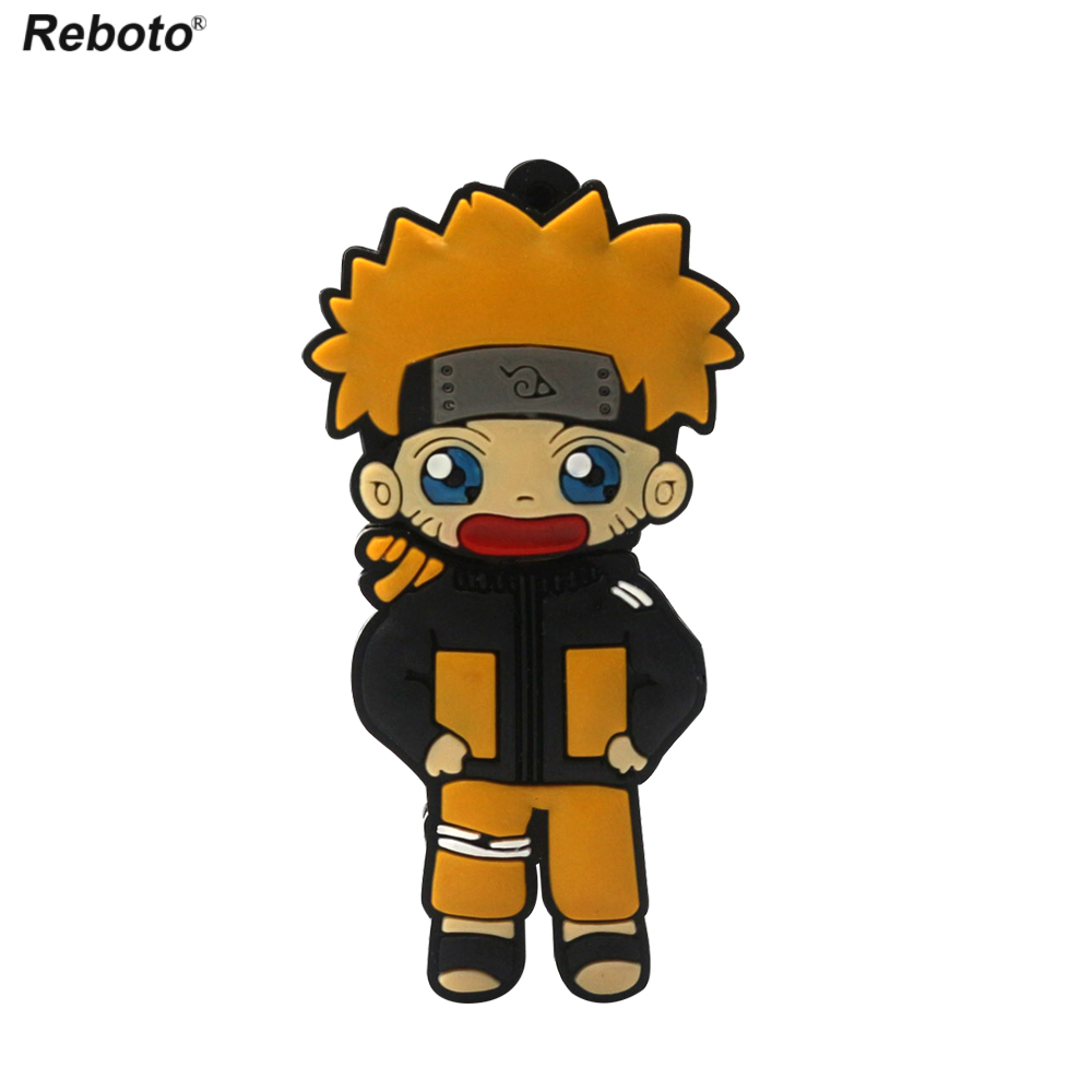 Naruto USB Flash Drive Cartoon Pendrive 4GB 8GB 16GB 32GB Sasuke Memory Stick Gifts Jiraya Uzumaki Naruto Gaara Two-sided
