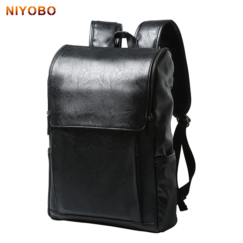 Fashion Pu Leather Men Backpack Rucksack Teenager School Bag Male Laptop big capacity Men Travel Bags College Back Bags Feminina dispalang personalized geometric backpack for laptop notebook school bags for college students men s travel bag rucksack mochila