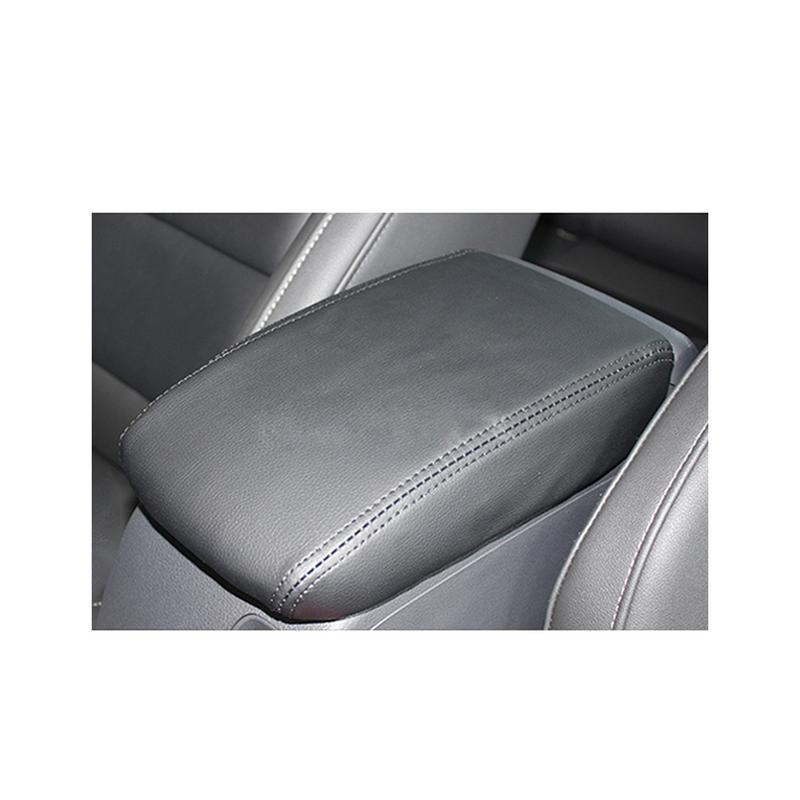 Black Protective Leather Car Armrest Box Protect Cover Central Accessories For Golf 7 MK7 2013-2017