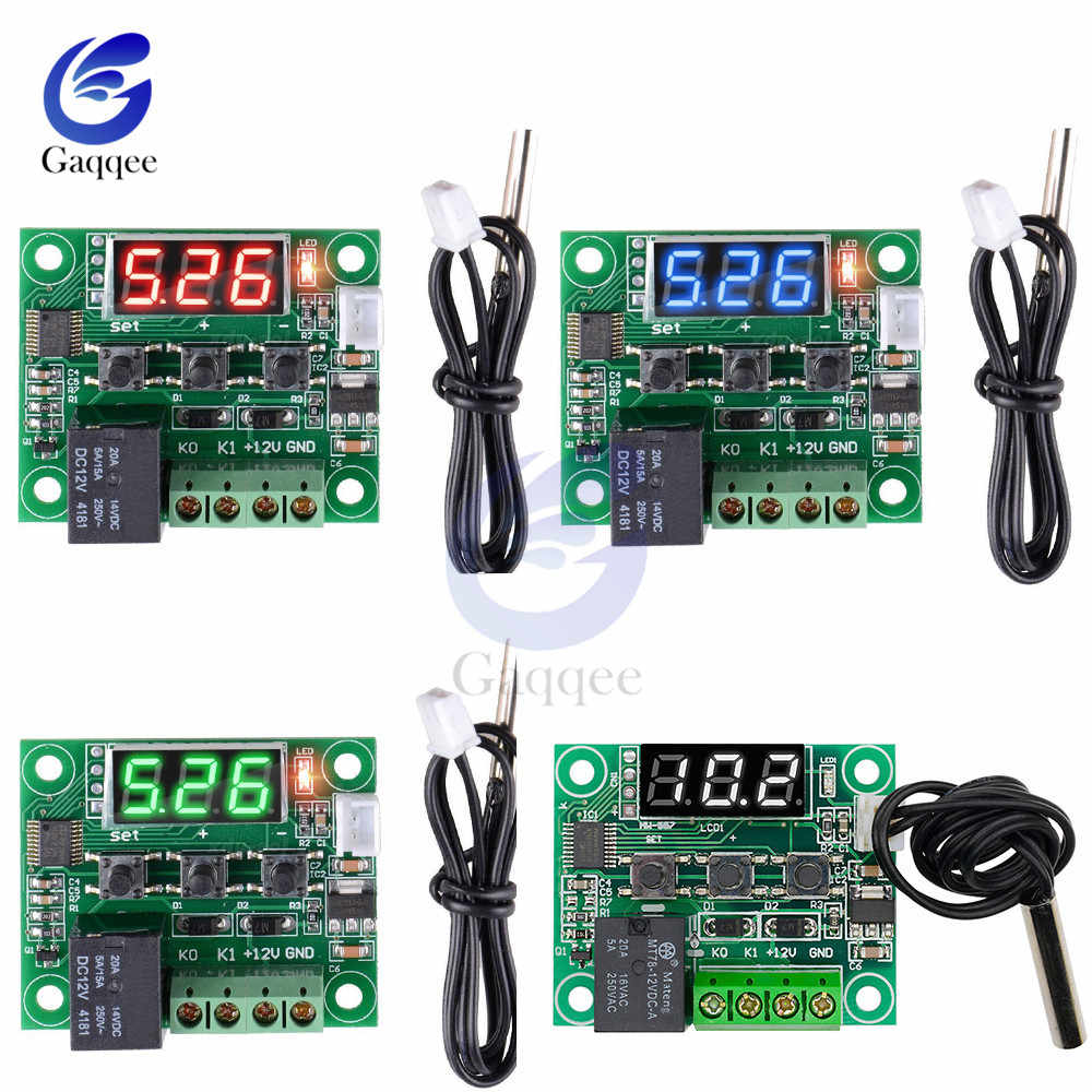 W1209 DC 12V Heat Cool Temp Thermostat Temperature Control Switch Temperature Controller Thermometer W/ Waterproof NTC Sensor