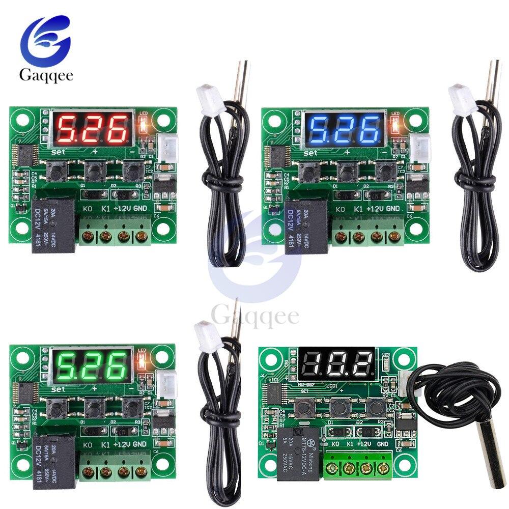 Gerade W1209 Dc 12 V Hitze Kühlen Temp Thermostat Temperatur Control Schalter Temperatur Controller Thermometer W/wasserdichte Ntc Sensor Spezieller Kauf Werkzeuge