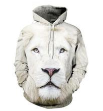 Off white Hombres sudaderas con capucha hip hop sudaderas divertido 3D Tigre león de la marca de moda más el tamaño 5XL hombres sudadera con capucha del chándal unisex sudadera