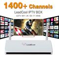 IPTV Streaming de Caja 1400 Europa Cielo Árabe IPTV Canales Paquete Leadcool Android Wifi 1G/8G Italia Portugal Receptor IPTV francés