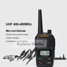 Mini Single Band VHF 136-174 or UHF 400-480MHz Portable Two Way Radio 5W  Waterproof 199 Memory Channels Walkie Talkie