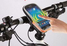 Cycling Bicycle Bike Protective Handlebar Bag Pouch Case For IPHONE5 HTC Navigation package Mobile Phone Free Shipping