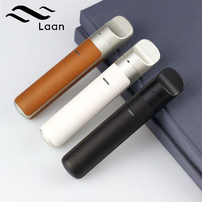 Cigarettes électroniques Shanlaan Laan Pod Mod 1300 mah 40 w Starter Kit 2 ml Capacité Cartouche Tout-En- un Vaporisateur Vaporisateur