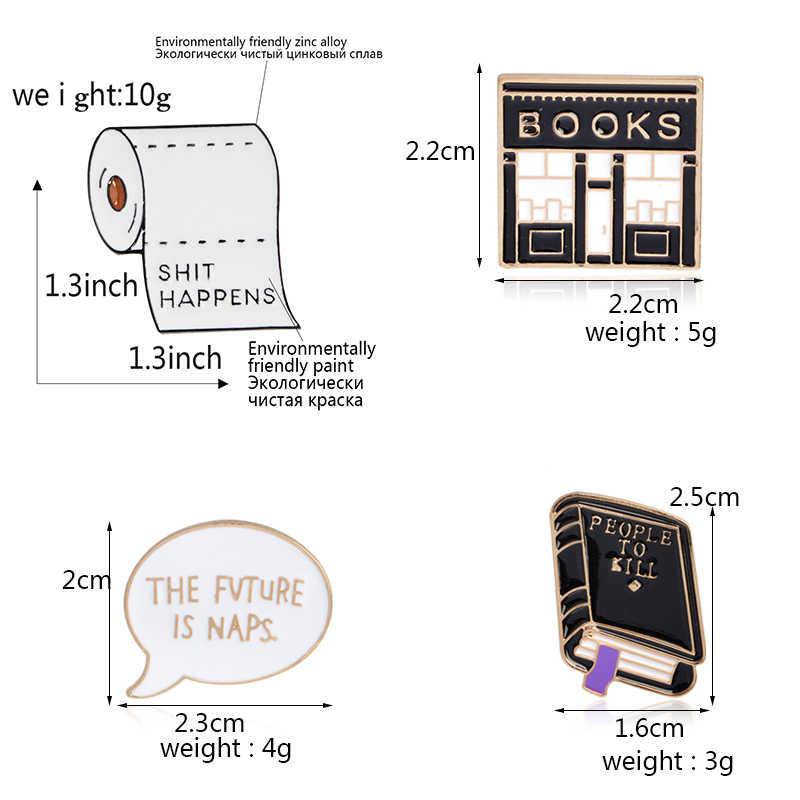 QIHE ювелирные изделия книга булавки книга Броши хорошие значки vibes читать больше нагрудные булавки смешное украшение с цитатой книга булавки коллекция