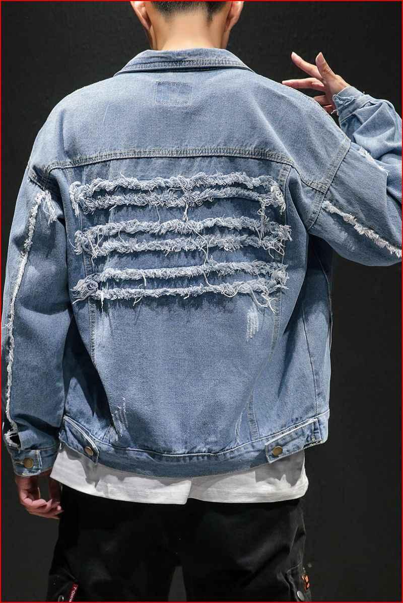 2019 メンズ男性カジュアルボンバージャケット男性高品質ヴィンテージデニムジャケットコートストリートやつ M-5XL