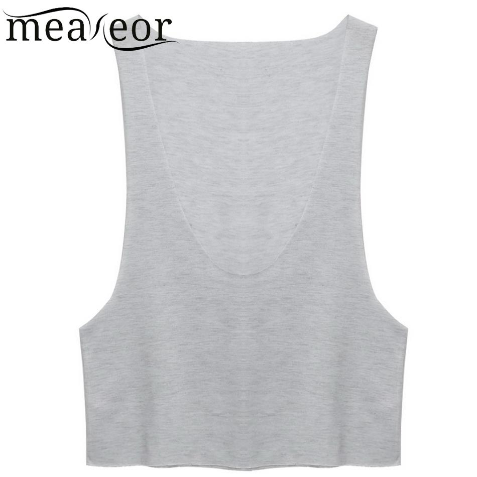 Open Fashion Women Ladies Sexy Deep O-neck Sleeveless   Tank     Tops   Side New Loose Basic Beach   Tops