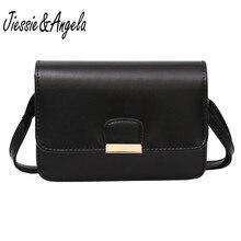 Jiessie&Angela Fashion Female Handbag PU Leather Women Bag Casual Flap Small Messenger Bags Vintage Shoulder Crossbody