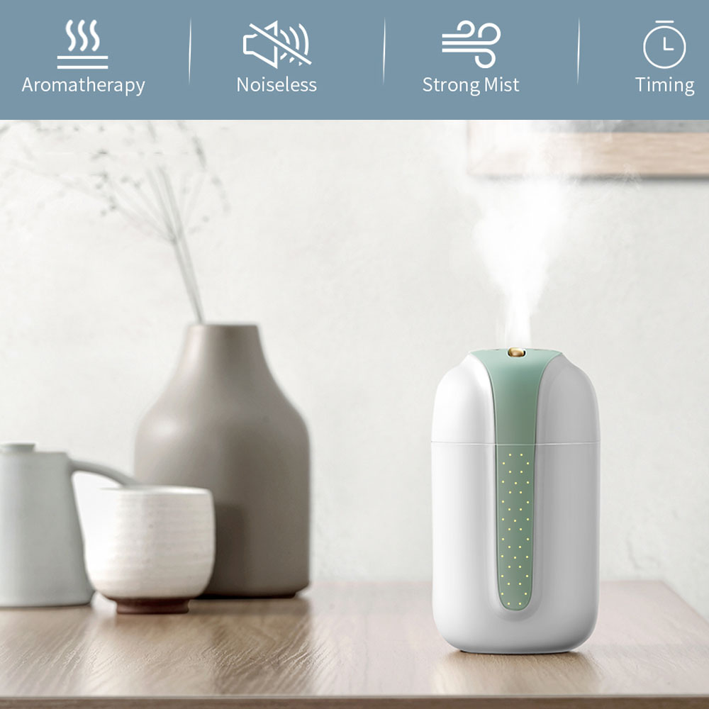 Zaiwan Car Humidifier Big Capacity Heavy Fog Intelligent Ultrasonic Battery Operated Cool Air Humidifier for Bedroom Indoor