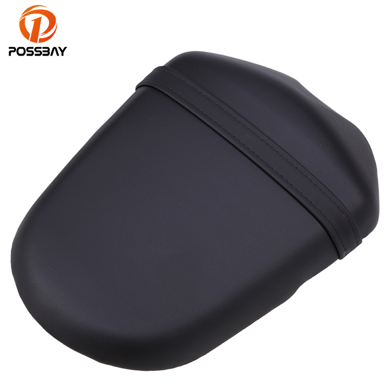 POSSBAY Black Motorcycle Rear Leather Seat Cover For Suzuki K9 Motorcycles Rear Passenger Seat Cover Pad Moto Seat Accessories