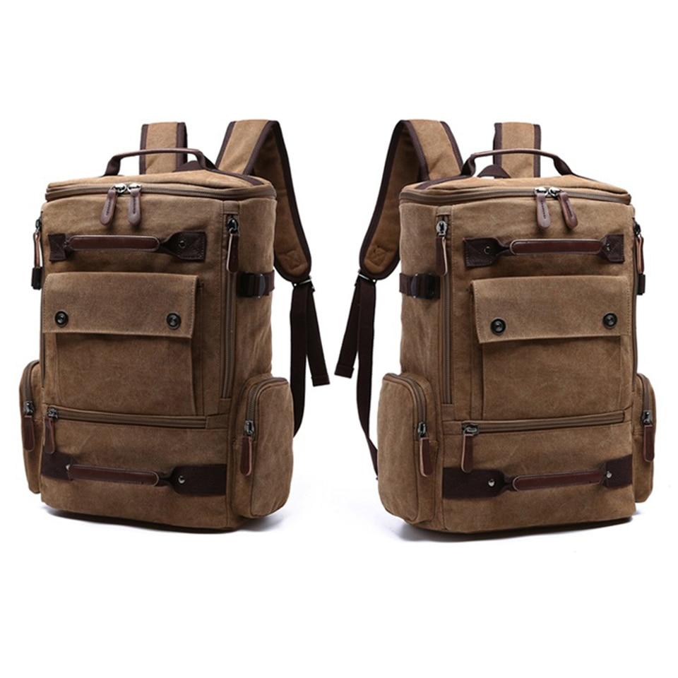 1665.61руб. 50% СКИДКА|Холщовый рюкзак для путешествий для мужчин и женщин, рюкзак для ноутбука, водонепроницаемая школьная Студенческая сумка для ноутбука, винтажная модная мужская сумка унисекс-in Рюкзаки from Багаж и сумки on AliExpress - 11.11_Double 11_Singles' Day - Все по плечу