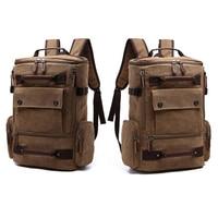 Men Backpack 15.6'' 17'' Laptop Backpacking Canvas Backpacks Outdoor Travel Large Capacity Luggage Bagpack Male School Bag Pack