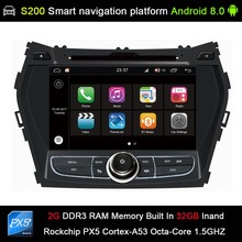 Android 8.0 system PX5 Octa 8-Core CPU 2G Ram 32GB Rom Car DVD Radio GPS Navigation for Hyundai IX45 Santa fe 2013 2014