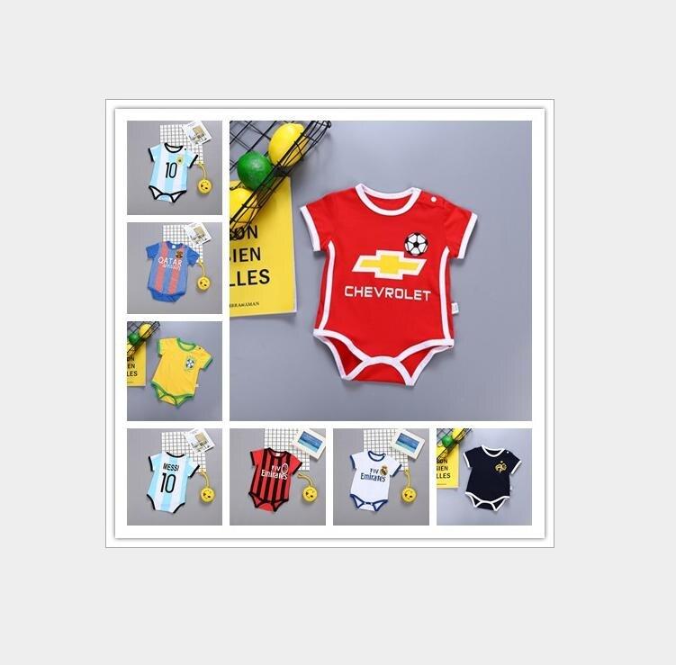 e0c0df48d3148 ... colores recién nacido Bebe jugador de fútbol traje bebé niño deporte  ropa triángulo Pantalones rojo 9 mono 2019 nuevo en Aliexpress.com