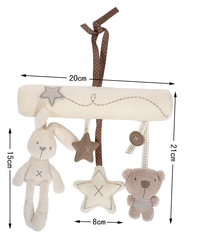 Rabbit Baby Music Hanging Bed Safety Seat Plush Toy Bell Multifunctional Plush Stroller
