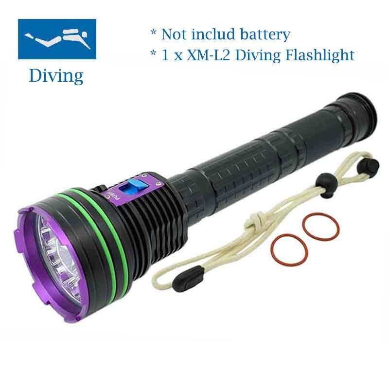 New Powerful Waterproof 12x XM-L2 20000 Lumen LED Scuba Diving Flashlight Underwater Lamp Torch Diver Lanterna By 18650 or 26650 l2 led 3800 lumen 100 meters underwater diving diver 18650 flashlight torch light lamp waterproof