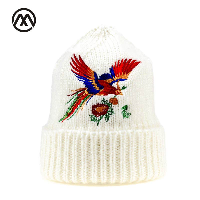 new phoenix High quality embroidery hats for women hand knitting yarn beanie knitted hat Winter warm cotton  Beanies hat Girl 's недорого