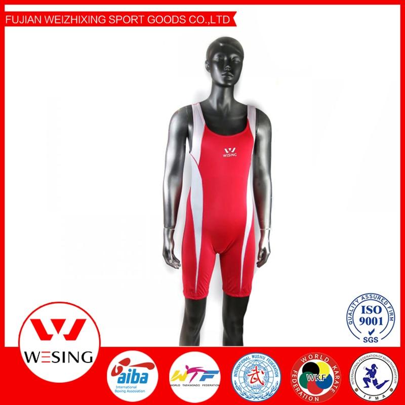 Wesing Wrestling Singlet Men's Snap Down Wrestling Singlet Including Blue And Red Wrestling Uniform